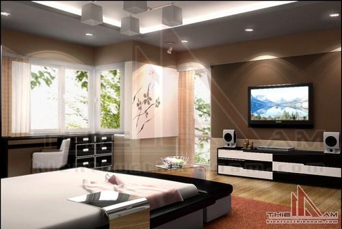 Thiết kế nội thất nhà lô phố hai mặt tiền   anh Nam
