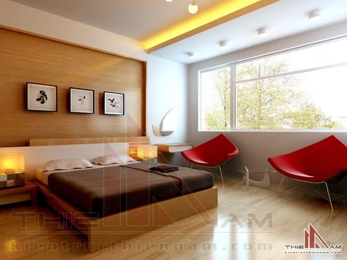 Thiết kế nội thất biệt thự 3 tầng   chị Hương