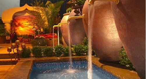 Mẫu thiết kế tiểu cảnh nước trong sân vườn