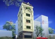 Thiết kế nhà lô 2 mặt tiền 5 tầng kiểu Pháp – Ông Hướng, Hà Nội