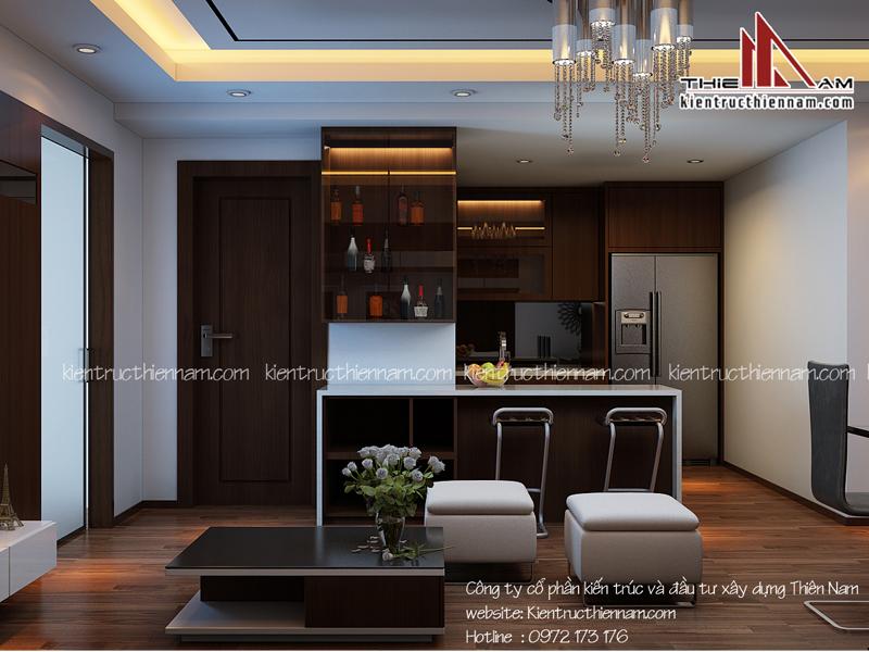 Thiết kế nội thất chung cư Time City – Anh Hiếu, Hà Nội
