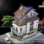 Thiết kế – Thi công biệt thự phố 2 mặt tiền
