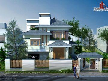 Thiết kế biệt thự vườn 2 tầng hiện đại – ông Đàn, Hưng Yên