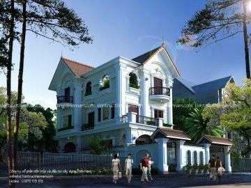 Thiết kế biệt thự tân cổ điển – anh Hiệp, Bắc Ninh