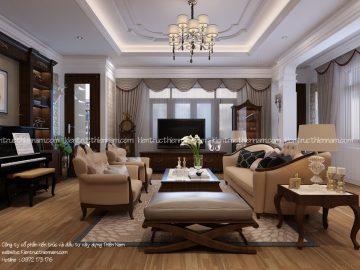Thiết kế thi công nội thất tân cổ điển – bác Ngọt, Đông Anh